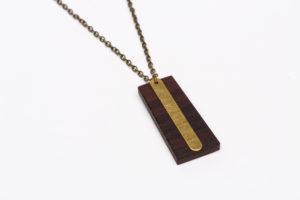 essence de palissandre métal en laiton chaîne en bronze diamètre 45cm