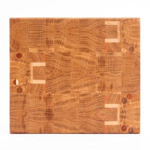 Ébénisterie bois de bout planche à découper billot couteau motif Lyon rhône alpes recupere rigole jus table cuisine artisanal cire huile eco responsable boucher viande art de la table bouche